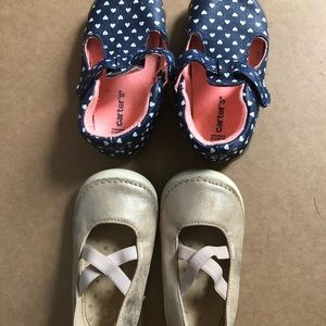 Toddler girl shoes size 5 & 4.5